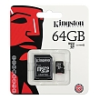 Kingston Micro SD HC 64 GB Třída 10 c...